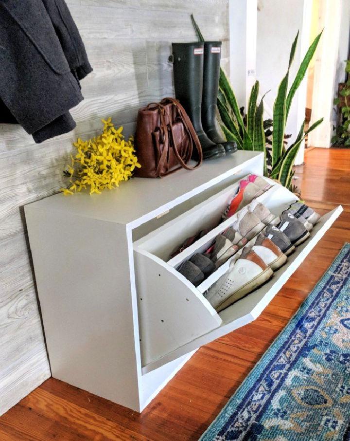 Scrap Wood Shoe Cabinet