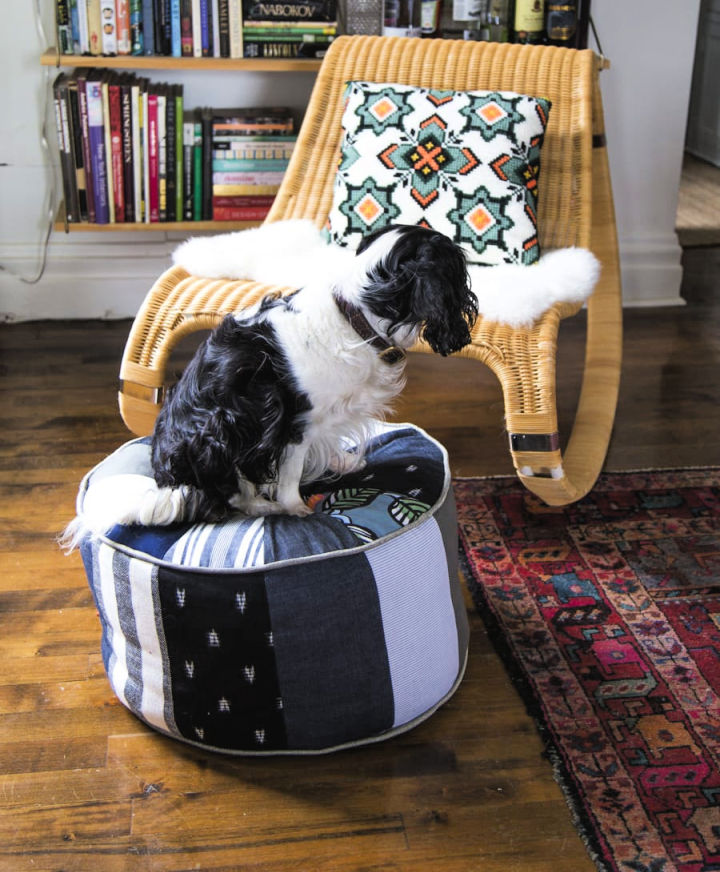 Sewing a Fabric Floor Pouf