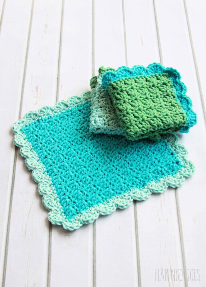 Simple Crochet Dishcloth Pattern