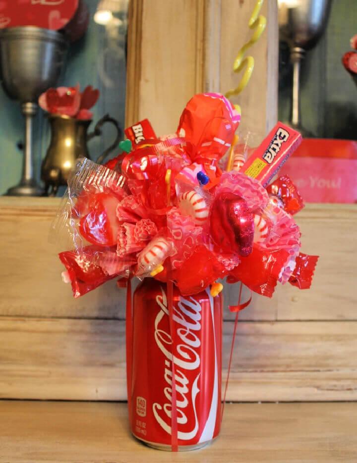 Soda Can Candy Bouquet Centerpiece