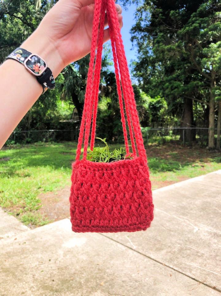 Square Alpine Stitch Crochet Plant Hanger