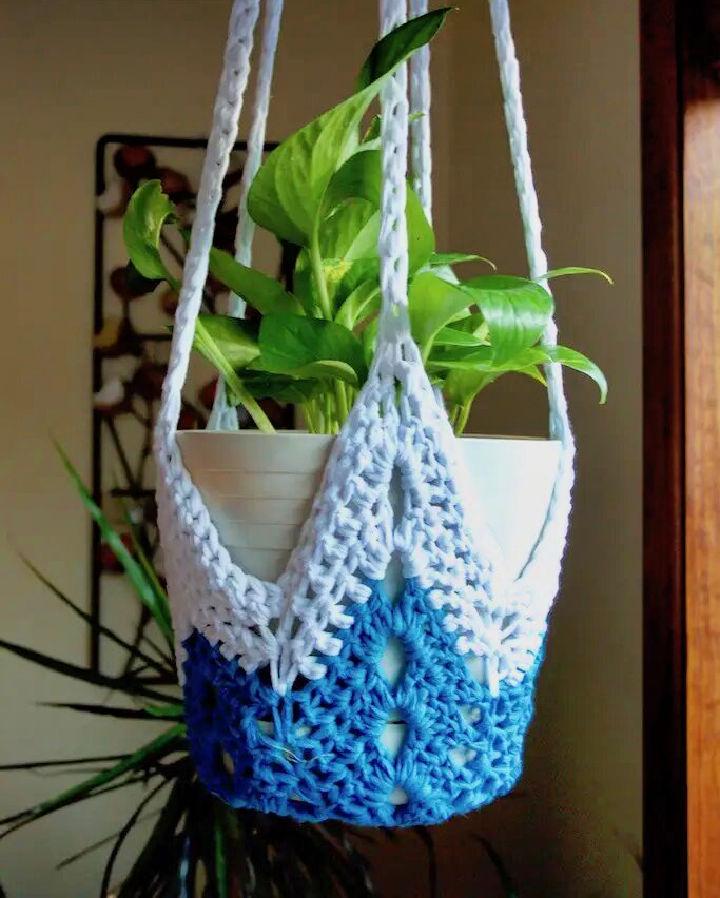 Star Crochet Plant Hanger