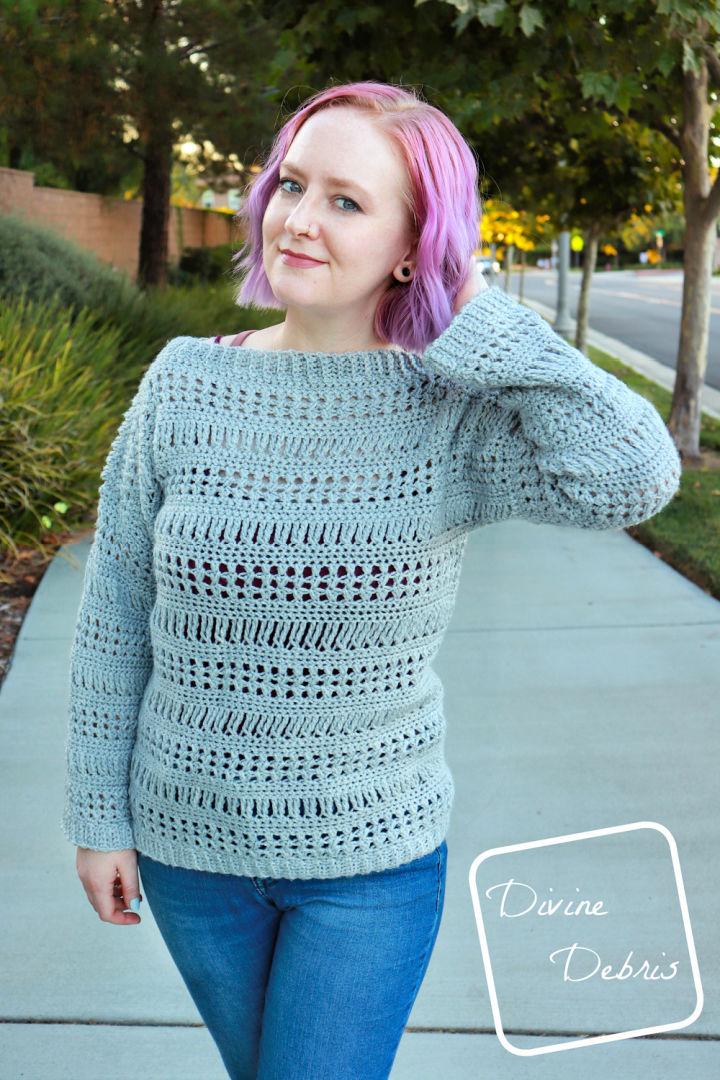 Stephanie Sweater Crochet Pattern