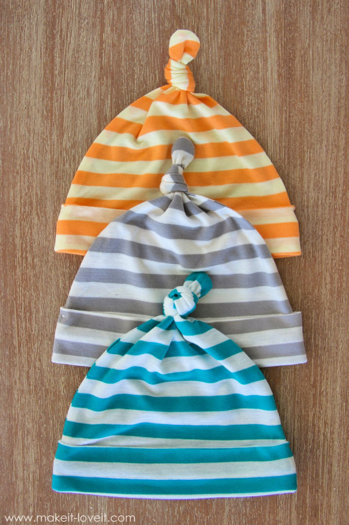 Stretchy Baby Hats with Top Knots