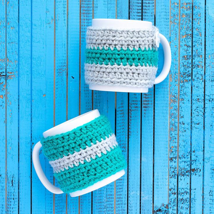 Striped Mug Cozy Crochet Pattern