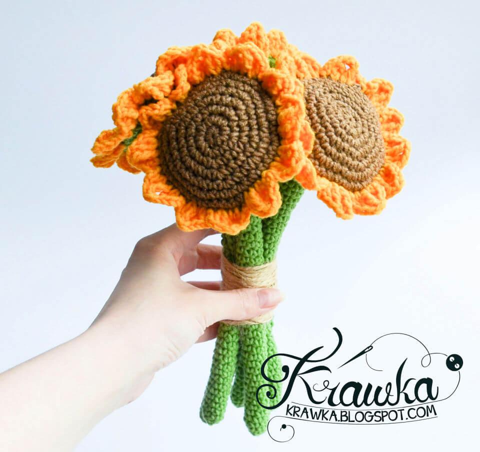 Sunflower Bouquet Crochet Pattern