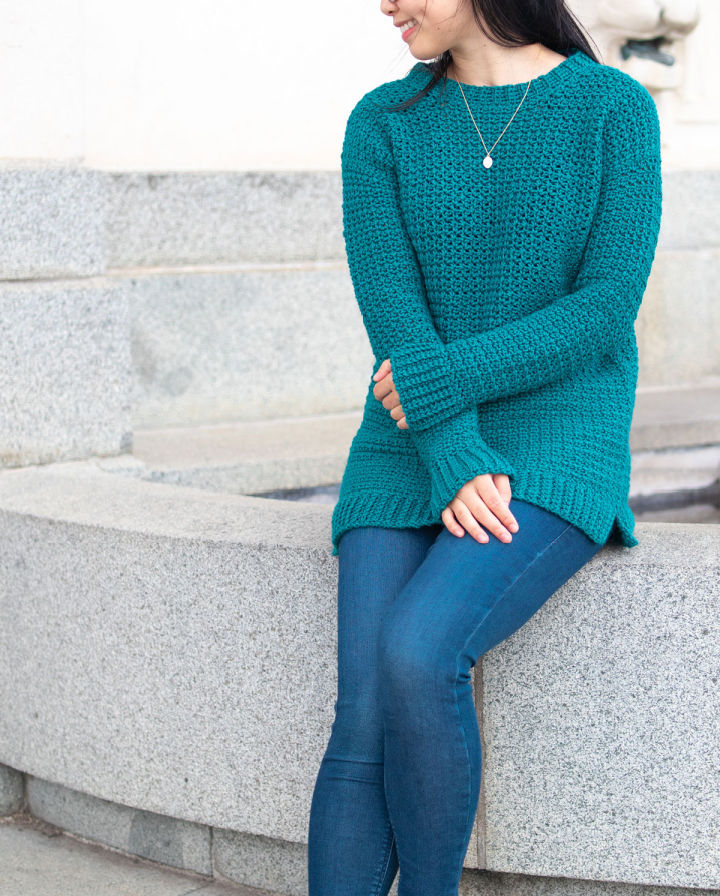 Textured Sweater Crochet Pattern