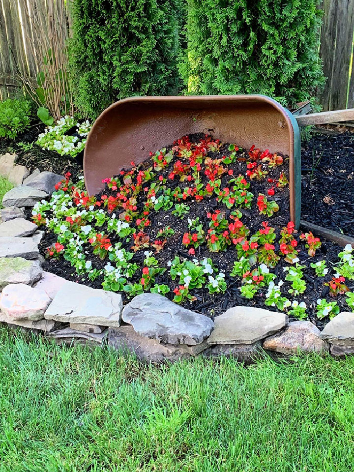 Tipped Wheelbarrow Planter for Garden