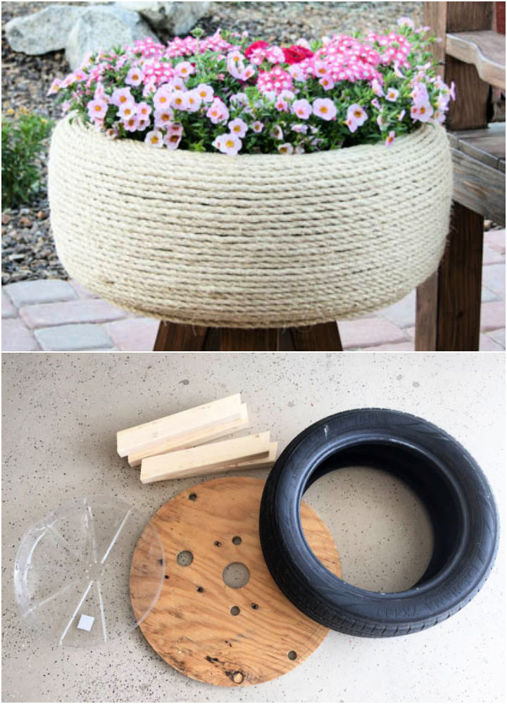 Turn an Old Tire Into Planter