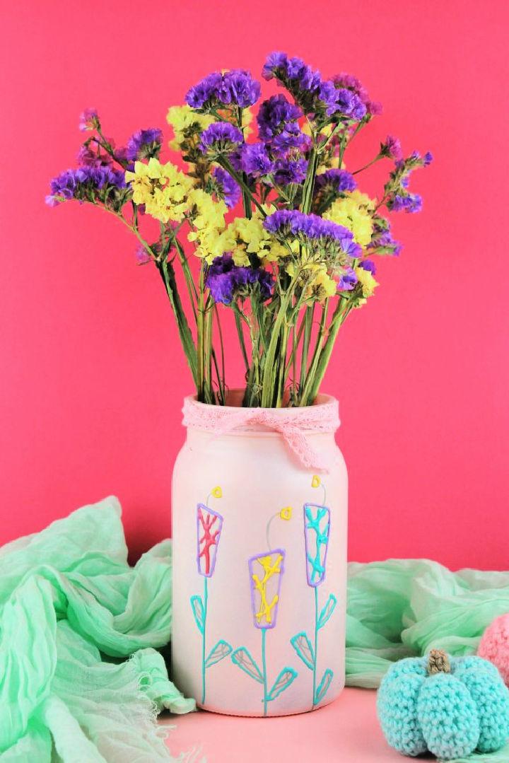 Upcycle Jar to Flower Vase