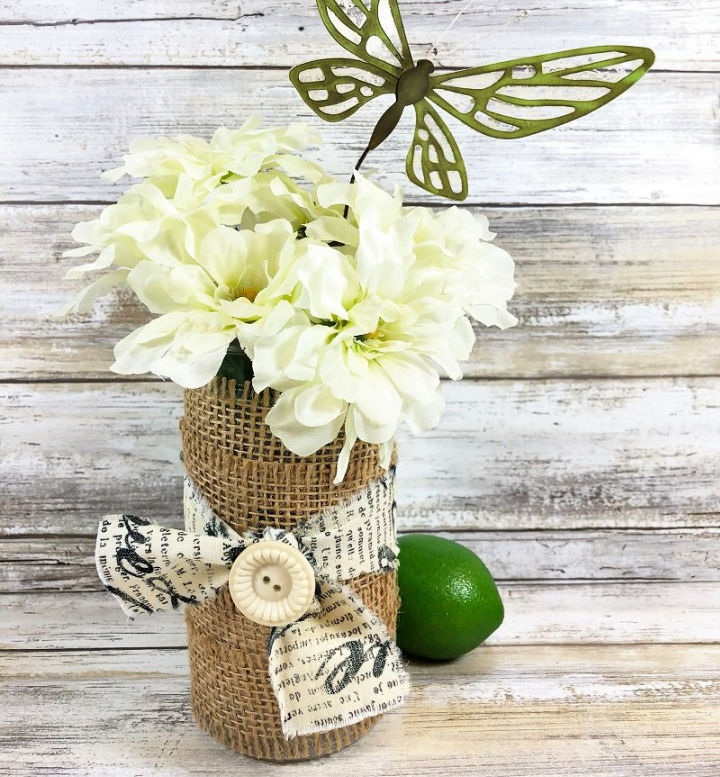 Upcycle a Burlap Vase in 15 Minutes