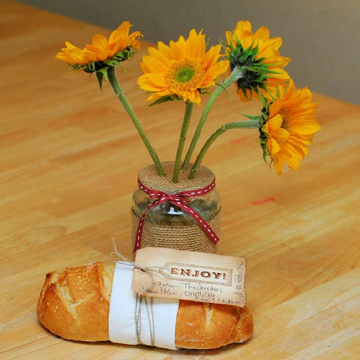 Upcycled Pickle Jar Flower Vase