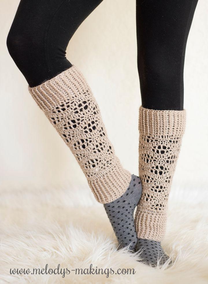 Wisteria Leg Warmers Crochet Pattern