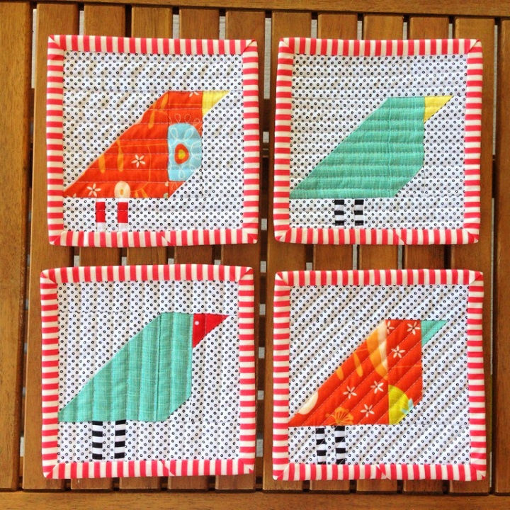 Wonky Bird Coasters Tutorial