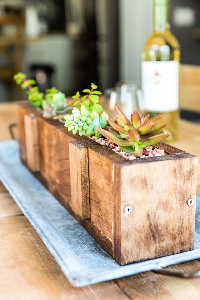 Wood Succulent Planter for Baby Shower Host