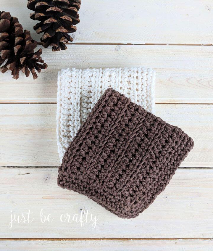 Woodland Cottage Crochet Dishcloth Pattern