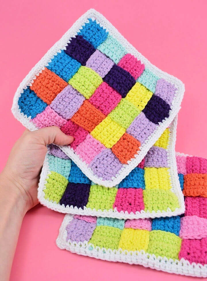 Woven Crochet Dishcloths