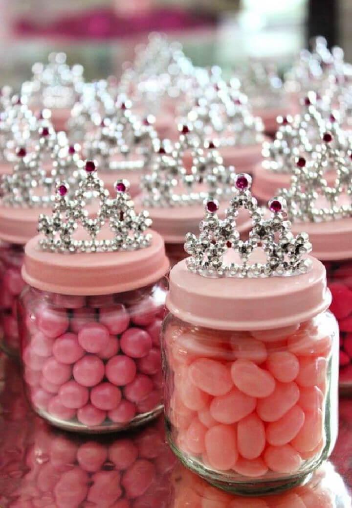 Baby Food Jar Princess Crown Party Favor