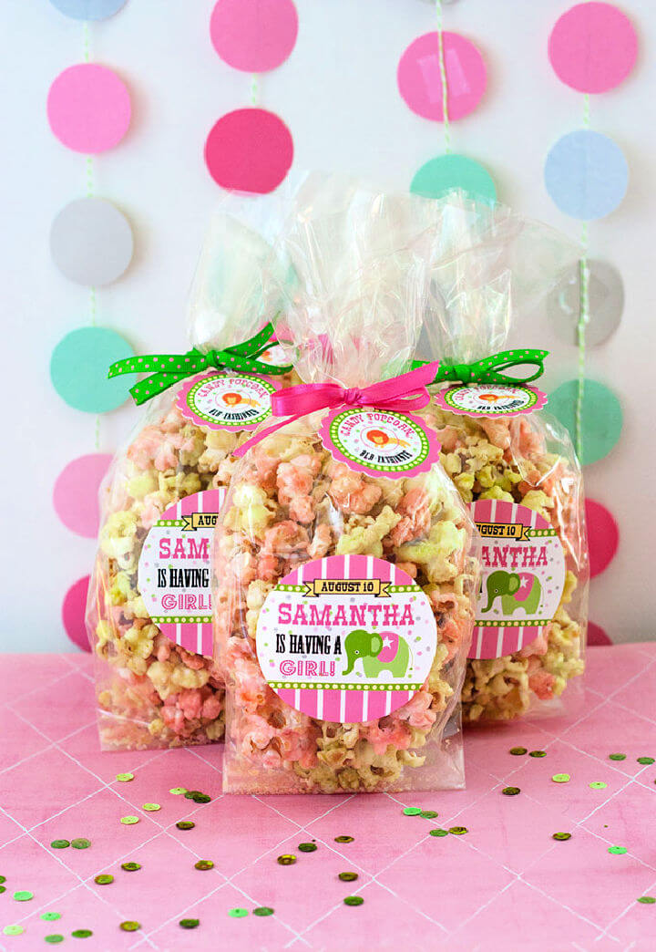 Baby Shower Candy Popcorn Favor