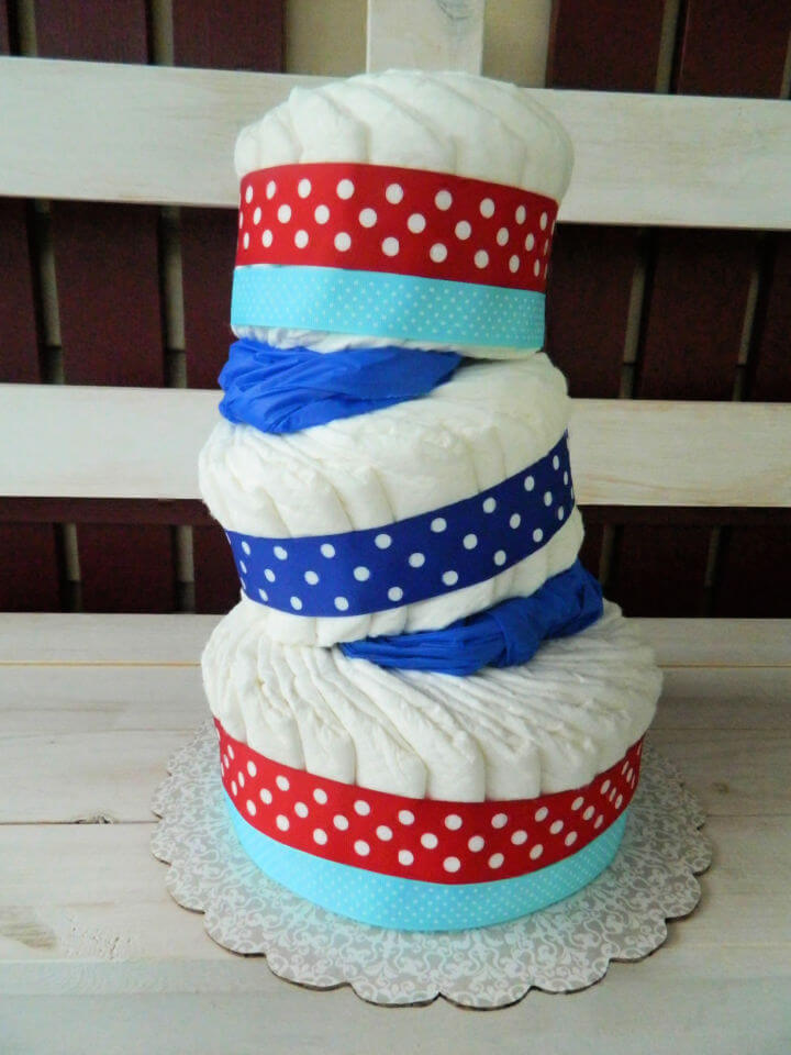 Baby Shower Diaper Cake Favor