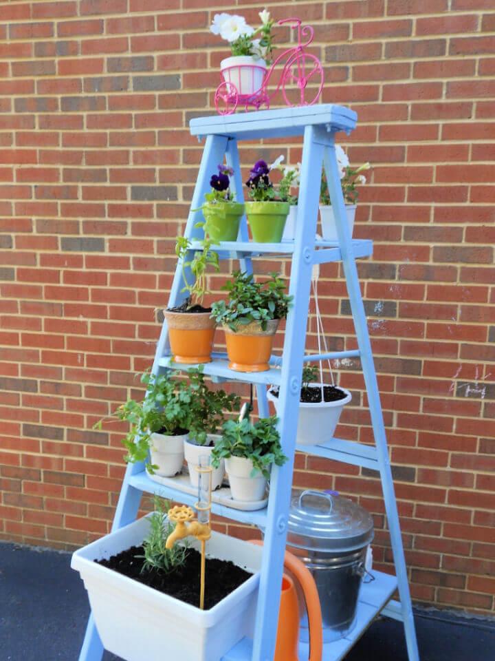 DIY Herb Garden Ladder