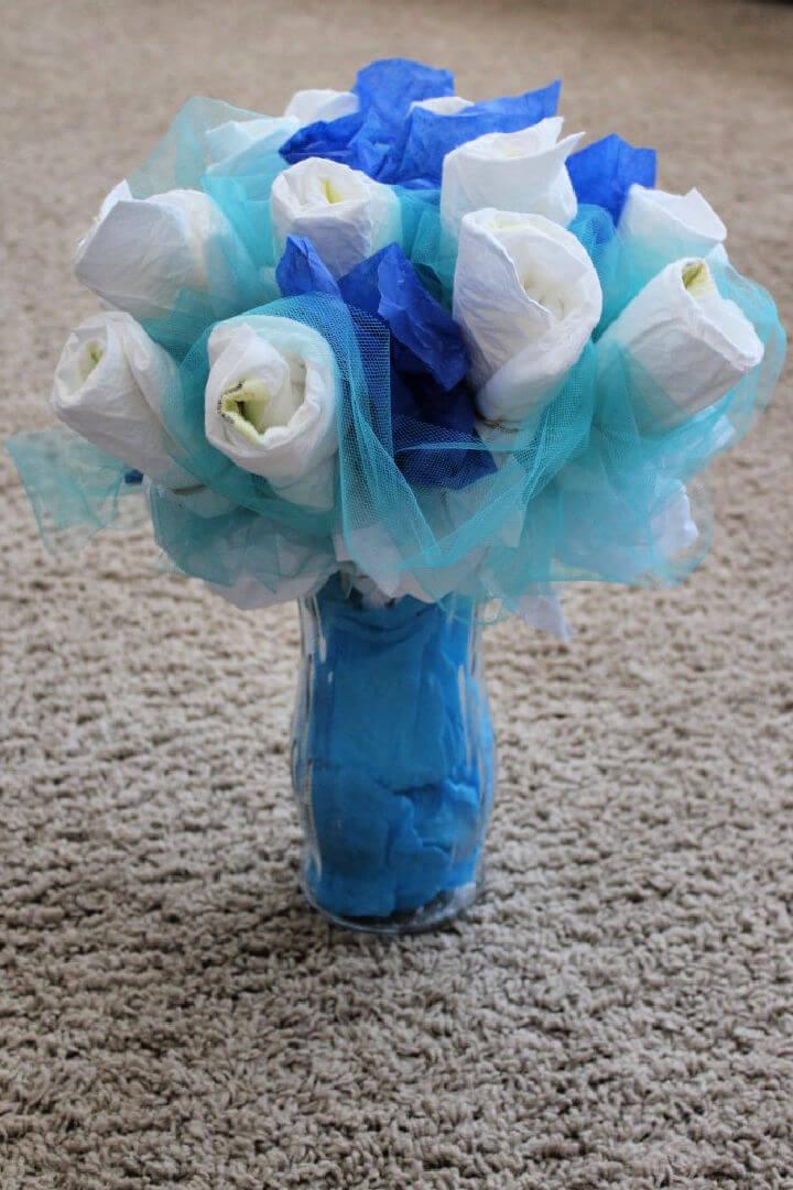 Diaper Bouquet Baby Shower Favor