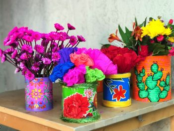 Easy DIY Painted Tin Cans