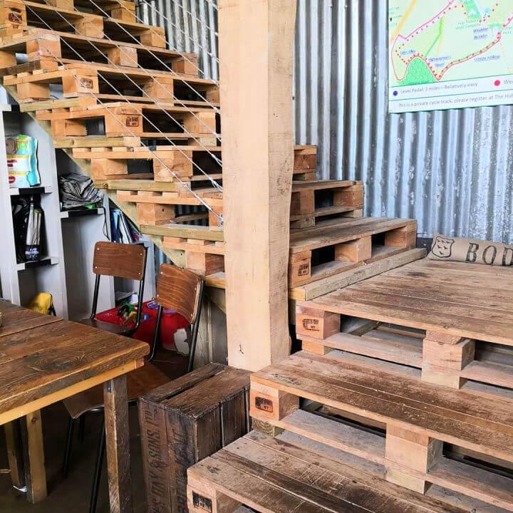 Indoor Pallet Stairs