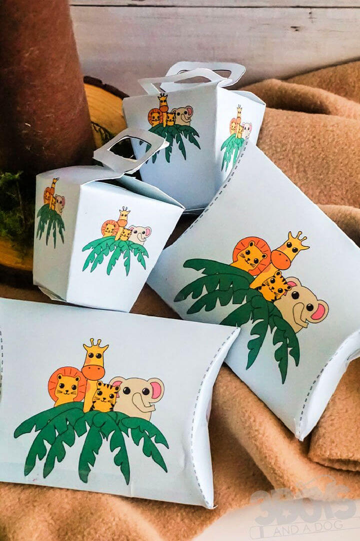 Jungle Baby Shower Favor Boxes