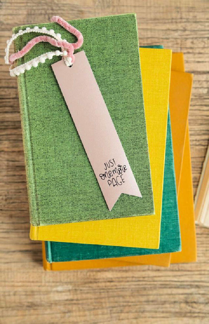 Leather Bookmark Baby Shower Favor