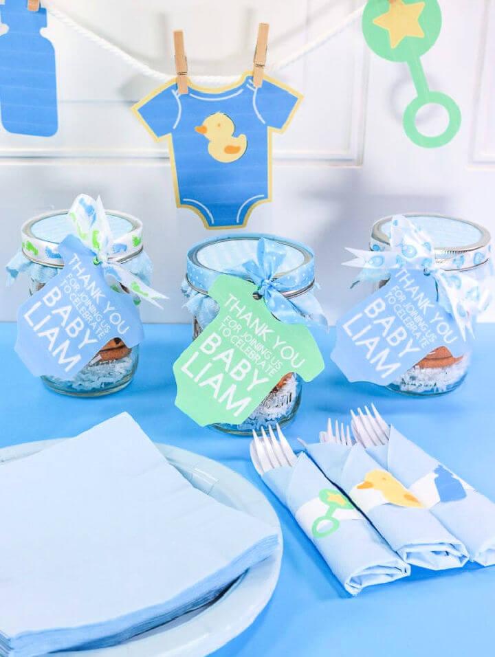 Mason Jars Baby Shower Favor