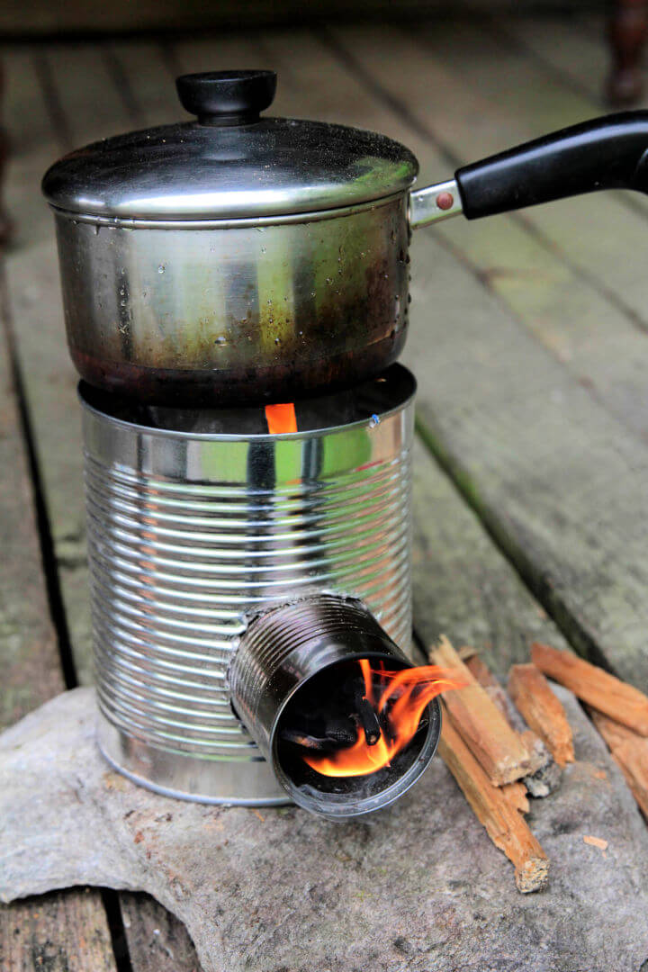 Mini Rocket Stove from Tin Cans