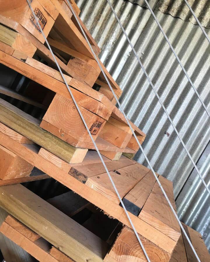 Pallet Stairs Plan