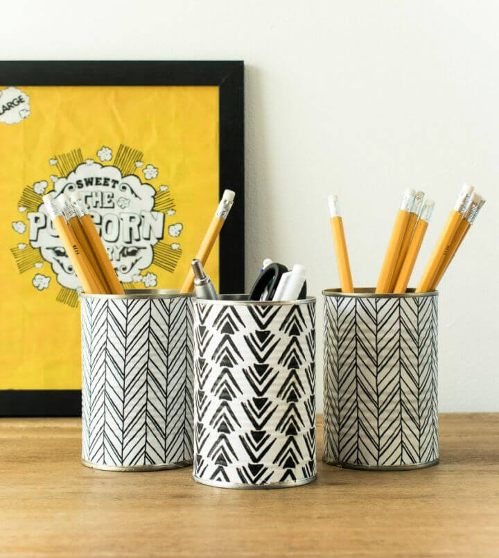 Pencil Holder from Empty Tin Cans