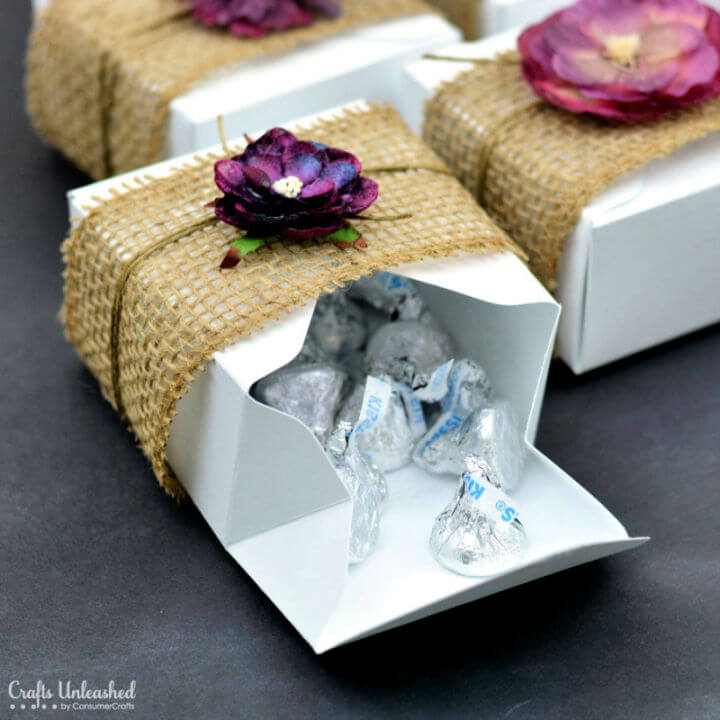 Rustic Gift Boxes for Baby Shower Favor