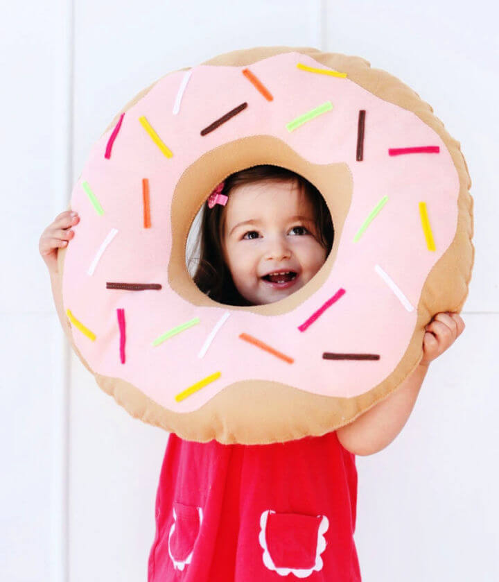 Simple and Sweet Donut Pillow