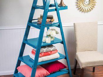 Spray Painted Ladder Shelf