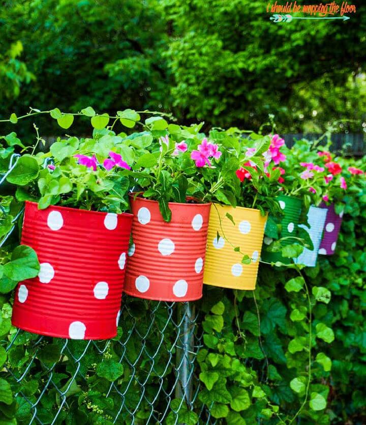 Tin Can Flower Garden