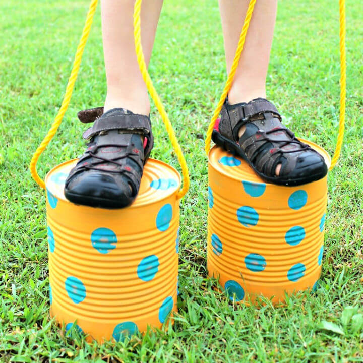 Tin Can Stilts for Kids