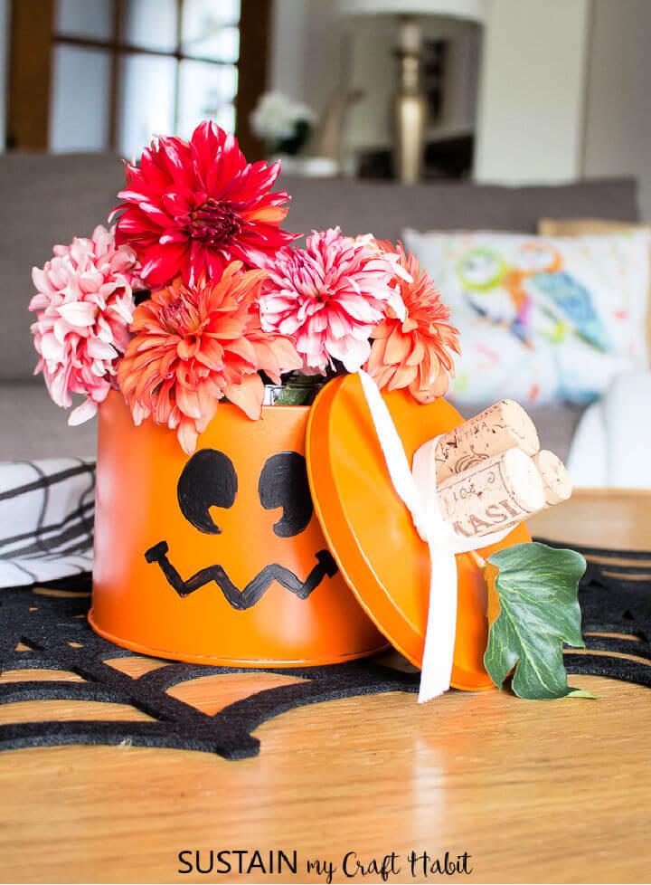 Upcycled Can Tin Pumpkin