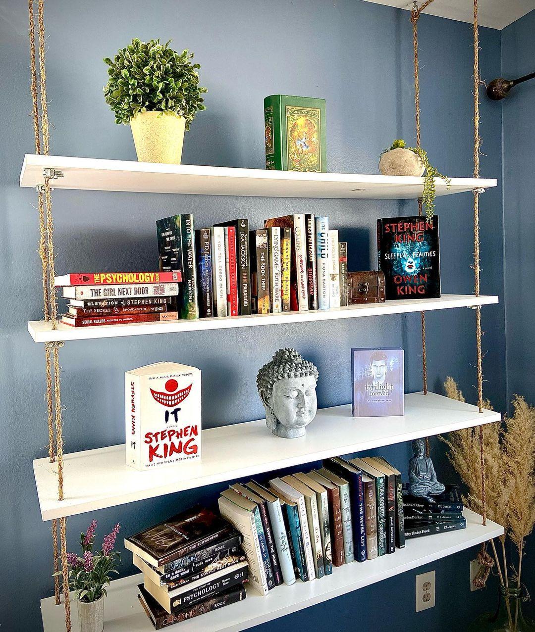 Install Floating Bookshelves