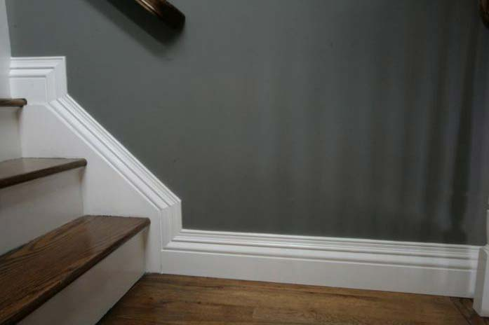 how to clean painted baseboards